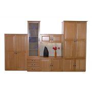 Classic elemes szekrény tömörfa fronttal
