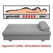 AKCIÓS Dover 155 kanapéágy Gerincvédő Zónával Batumi szürke